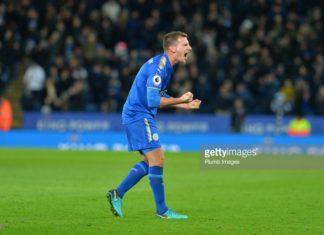 Albrighton celebrates Tottenham defeat