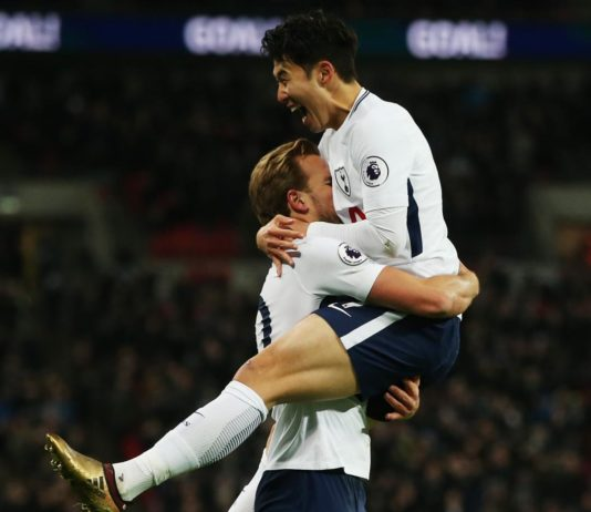 Harry Kane and Son celebrate as Spurs win 5-1