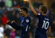 Dele Alli celebrates sinking Swansea