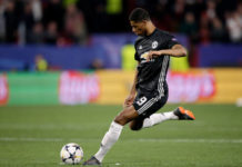Marcus Rashford against Sevilla