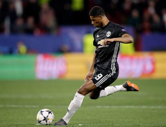 Marcus Rashford against Sevilla