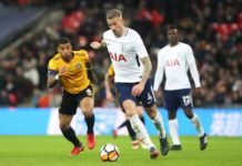 Toby Alderweireld against Newport