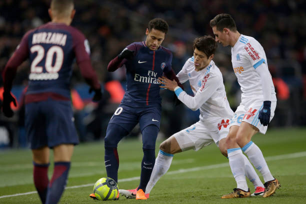 Neymar Jr against Marseille