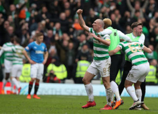 Celtic celebrate a win in the Old Firm Derby