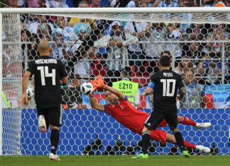 Lionel Messi missing penalty v Iceland