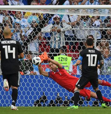 Lionel Messi missing penalty v Iceland
