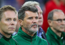 Roy Keane before the Welsh game